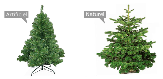 Sapin artificiel vs sapin naturel
